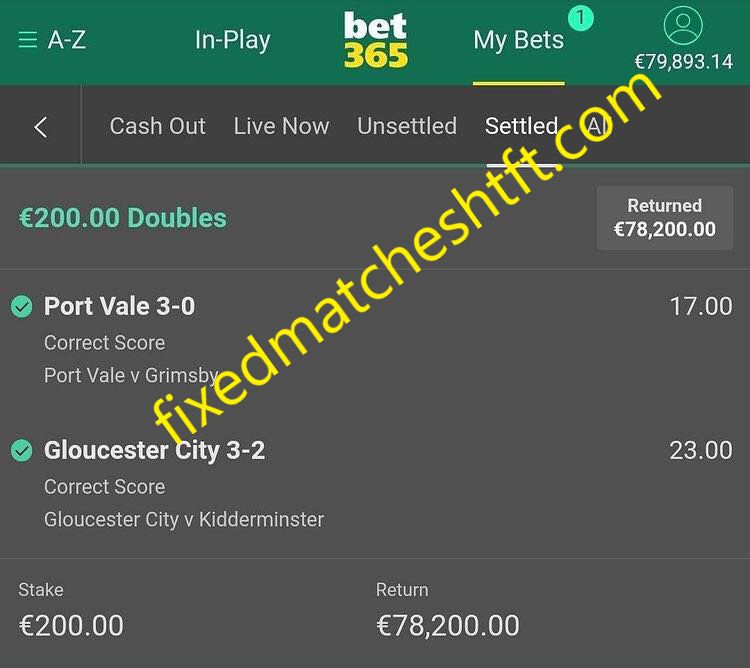 today 100 sure fixed matches
